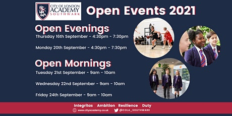 City of London Academy Open Events tickets