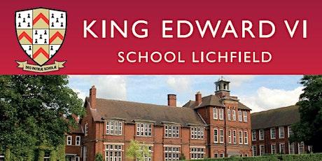 King Edward VI School Lichfield Open Evening tickets