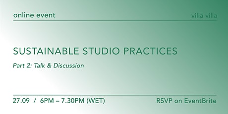 Talk and discussion: sustainable artist studio practices tickets