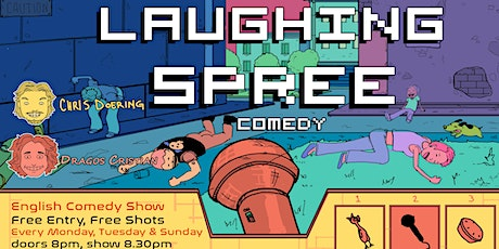 Laughing Spree: English Comedy on a BOAT (FREE SHOTS) 31.10. Tickets