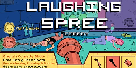 Laughing Spree: English Comedy on a BOAT (FREE SHOTS) 14.11. Tickets