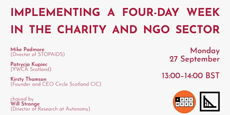 Implementing a four-day week in the Charity and NGO sector tickets