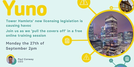 Tower Hamlets licensing is causing a few headaches. Yuno you need to join! tickets