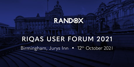 RIQAS User Forum 2021 - Birmingham tickets