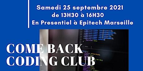 Coding Club 25 septembre 2021 billets