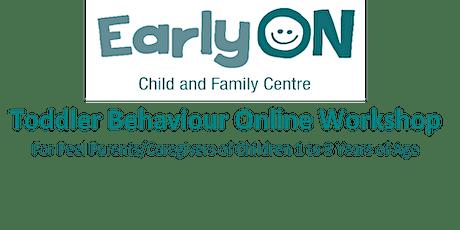 Toddler Behaviour Online Workshop tickets