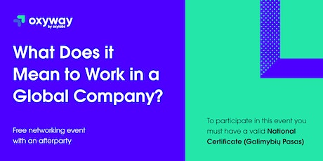 OxyWay: What Does it Mean to Work in a Global Company? tickets