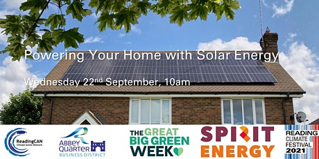 Powering Your Home with Solar Energy tickets