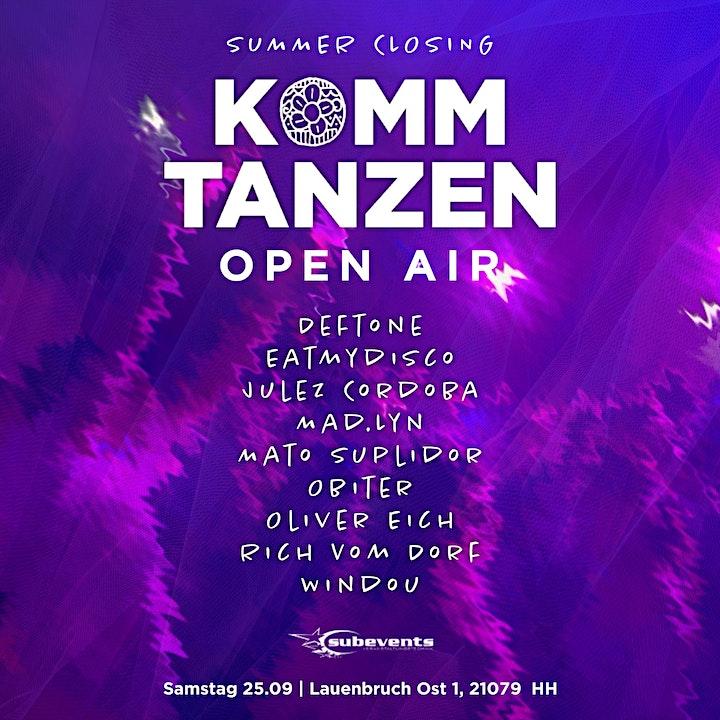 (3G) Summer Closing | Komm tanzen Open Air: Bild