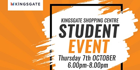 Kingsgate Student Event 2021 tickets