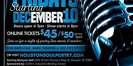 Soul Poetry Showcase on December 10th tickets