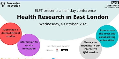 Health Research in East London Virtual Conference tickets