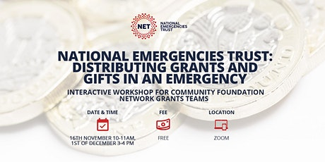 National Emergencies Trust: Distributing Grants and Gifts in an Emergency tickets