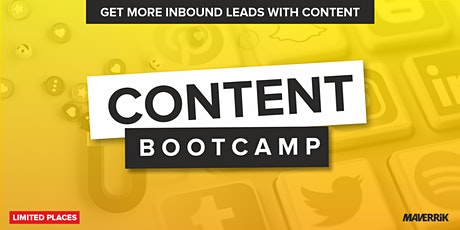 Content Bootcamp Tickets