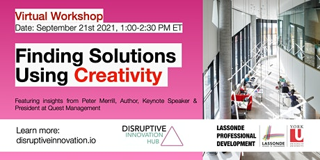 Innovative Skills for Success: Finding Solutions Using Creativity tickets