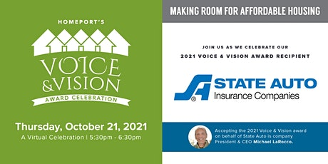 Homeport's 2021 Voice & Vision Virtual Celebration tickets