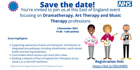 EoE Dramatherapy, Art Therapy and Music Therapy professions event tickets
