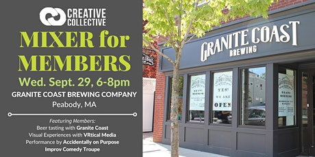 Creative Collective's Monthly Membership Mixer at Granite Coast Brewing Co. tickets