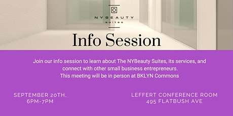 NYBeauty Suites Info Session tickets