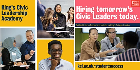 Become a community partner with King's Civic Leadership Academy tickets