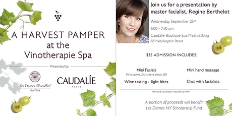 Les Dames New York Invites You To A Harvest Pamper At The Vinotherapie  Spa tickets