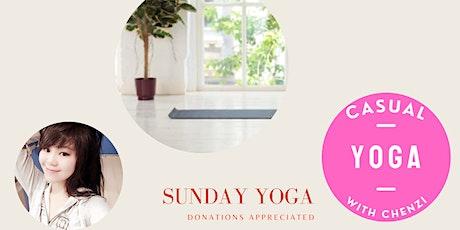 Casual Yoga with Chenzi - Sunday Yoga (Donations Appreciated) tickets