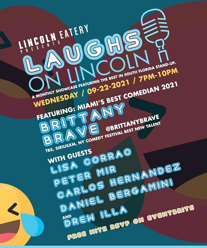 Laughs on Lincoln Presented by Brittany Brave image
