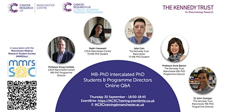 MB-PhD Intercalated PhD Students & Programme Directors Online Q&A tickets