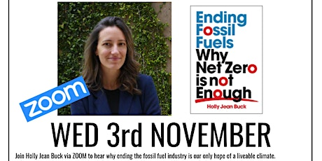 livestream: Ending Fossil Fuels by Holly Jean Buck tickets