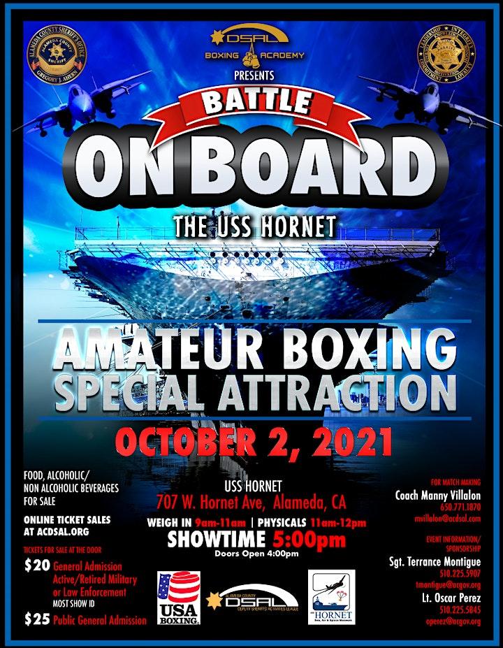 "DSAL Boxing Academy Presents ""Battle On Board the USS Hornet"" image"