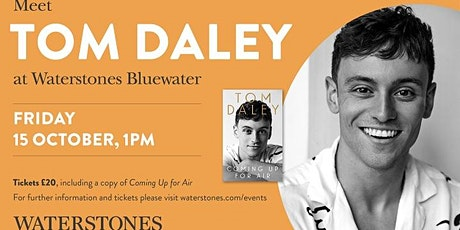 Meet Tom Daley at Waterstones Bluewater tickets