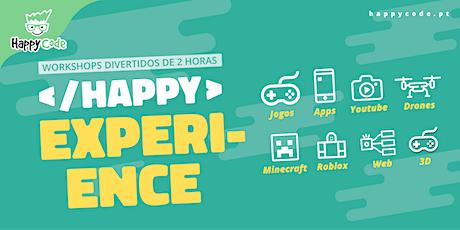 HAPPY EXPERIENCE - CONSTRUCT GAME(Presencial Happy Code C. Ourique) bilhetes