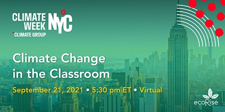EcoRise: Climate Change in the Classroom: NYC tickets