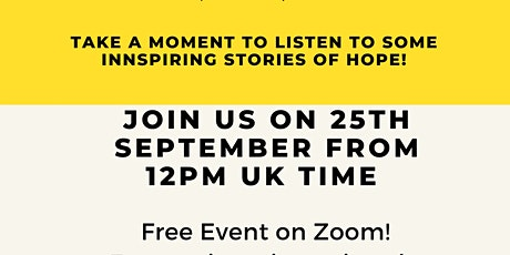 World Suicide Prevention Day: Inspiring Stories of Hope! tickets