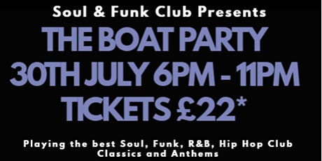 Soul & Funk Club Party Boat 2022 tickets