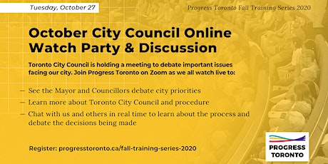 Fall Training Series: November City Council Online Watch Party & Discussion tickets