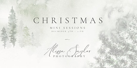 Saturday, December 4th  - Christmas Mini Sessions tickets