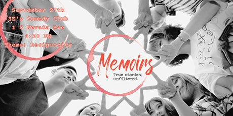 "Memoirs CoS ""True Stories, Unfiltered."" tickets"