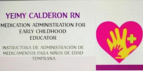 CERTIFICACIÓN DE ADMINISTRACIÓN DE MEDICAMENTOS Y EPIPEN PARA EDUCADORES boletos