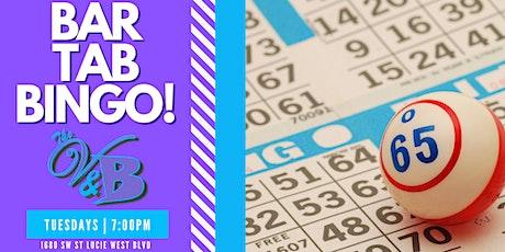 The V&B - BAR TAB BINGO! tickets