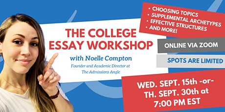 The College Essay Workshop tickets