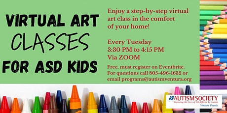 Virtual Art Classes for ASD Kids tickets