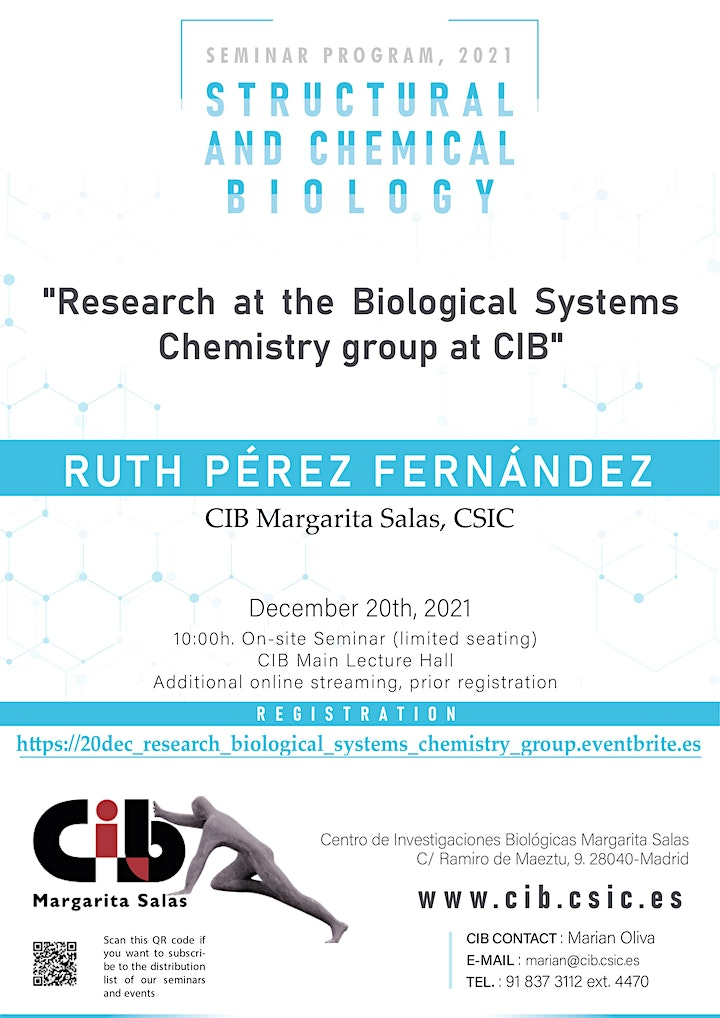 Imagen de Research at the Biological Systems Chemistry group at CIB.