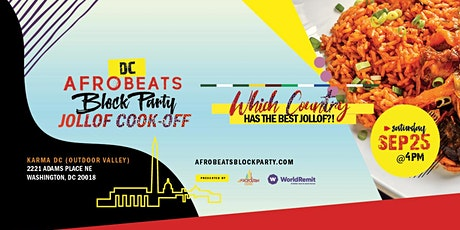 DC Afrobeats Block Party  & Jollof Cook-off ft Live Performances & Vendors tickets