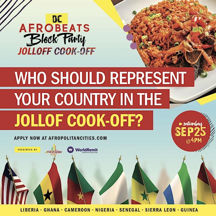 DC Afrobeats Block Party  & Jollof Cook-off ft Live Performances & Vendors image