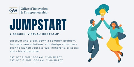Jumpstart 2-Session (Virtual) Bootcamp: Discover | Innovate | Design tickets