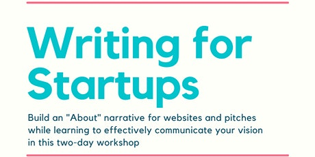 Writing for Startups tickets