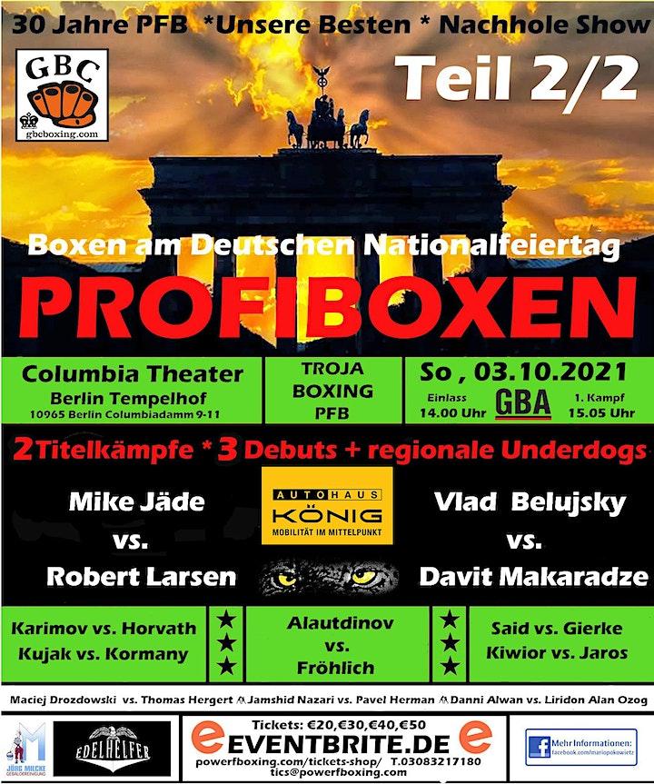 """Profiboxen in Berlin * 30 Jahre PowerFBoxing """"Unsere Besten"""" Nachhole Show: Bild"""