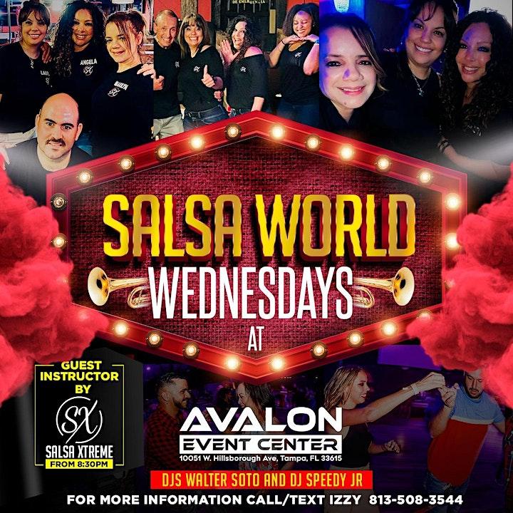 Salsa World Wednesdays Latin Night image