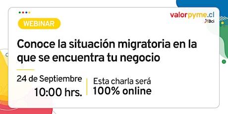 Conoce la situación migratoria en la que se encuentra tu negocio boletos